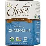 Choice Organic Teas Caffeine Free Herbal Tea, Chamomile, 16 Count