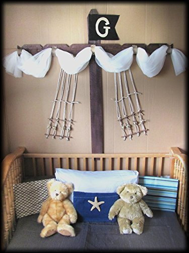 Boys Bed CriB canopy rustic Pirate Ship design Barn wood bedroom decor custom burlap rope Boat Sail Mast Nautical So Zoey Boutique SALE FrEE by So Zoey Boutique
