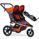 single bob snack tray - BOB - Revolution FLEX Duallie Double Stroller with Bag - Orange Silver