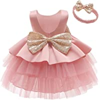 Toddler Baby Flower Girls Sequins Bowknot Tutu Dress Princess Pageant Wedding Birthday Party Backless Tulle Gown…