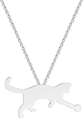 collier pour femme avec chat