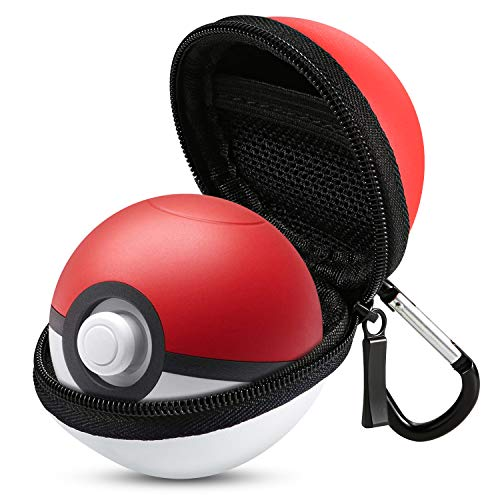 Carry Case for Poke Ball Plus Controller ECTHPower Portable Lets Go Pikachu Eevee Game Protective Hard Travel Pokeball Case Bag for Nitendo Switch Accessories (White Red Poke Ball Plus Case)