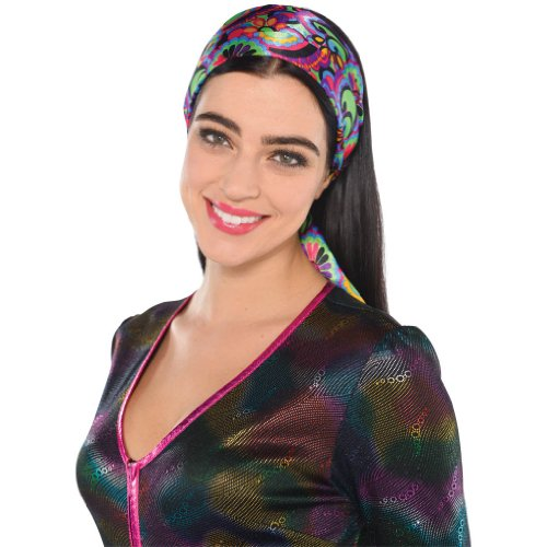 Amscan Disco Fever 70's Party Scarf (10 Piece), Multi Color, 15.7 x 6.5