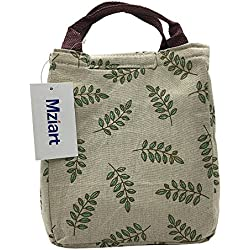 Cute Lunch Bag Reusable Lunch Tote Bag Insulated Cooler Bag Handbag with Velcro Closure for Adults Men Women Kids Work Travel Picnic (Olive Branch)