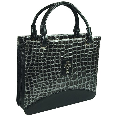 Croc Embossed Tote Bag - 4