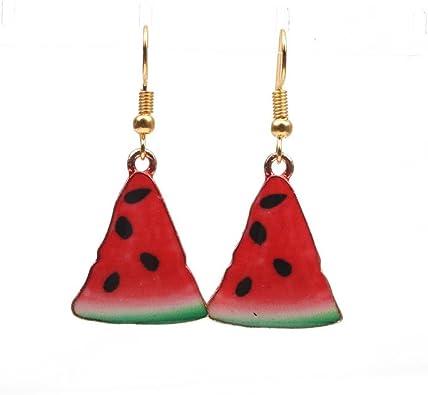 Watermelon Fruit Stud Earrings For Women Girls Wedding Party Charm Jewelry