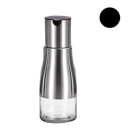 TAKEMORE7 Botella de aceite de oliva japonesa de acero inoxidable, dispensador de aceite de oliva