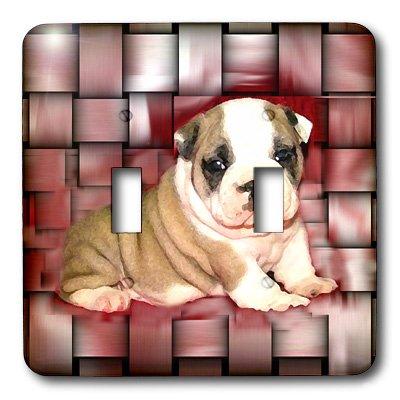 3dRose lsp_4118_2 British Bulldog Puppy Double Toggle Switch