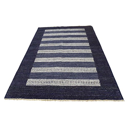 Hand Knotted 100 Percent Wool Modern Gabbeh Striped for sale  Delivered anywhere in USA