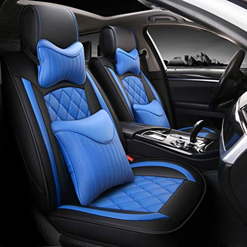 Easy To Clean PU Leather Car Seat Cushion 5 Seats Full Non-Slip Suede Backing Universal Fit Cover Adjustable for 95% Type of Five-Seat Car,B: Sports & Outdoors
