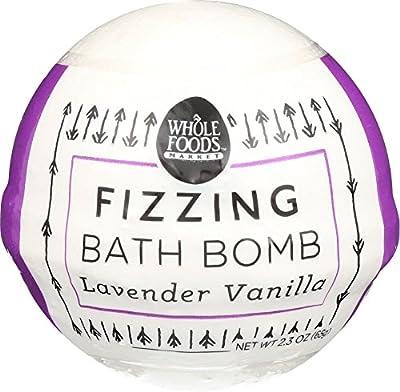 Whole Foods Market, Lavender Vanilla Fizzing Bath Bomb, 2.3 Ounce