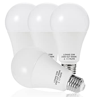 23 W (200 W) Bombilla LED E27, LOHAS No-Regulable rosca Edison ...