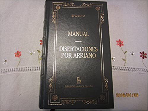Manual Disertaciones por Arriano: Epicteto: 9788424925734: Amazon.com: Books