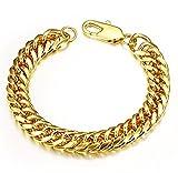 Heavy Metal Cuban Curb Link Chain Men's Bracelets Powerful Stainless Steel Bracelet