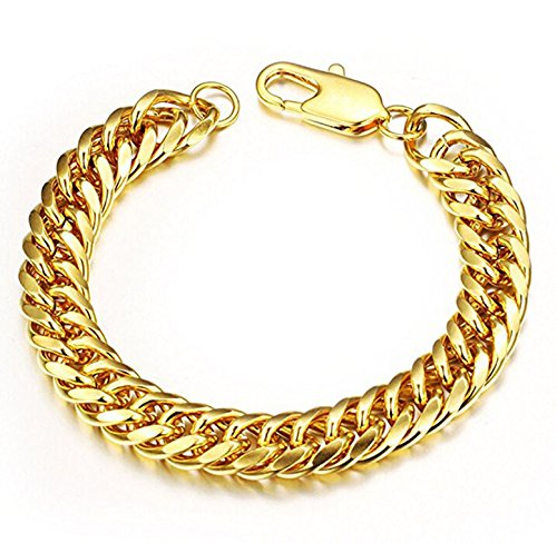 Heavy Metal Cuban Curb Link Chain Mens Bracelets Powerful Stainless Steel Bracelet