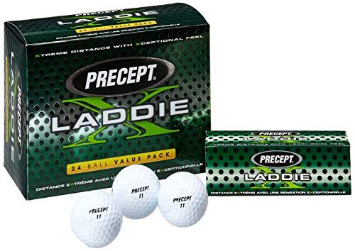 Precept Laddie X Double Dozen Golf Ball 3 x 24 Ball Packs 2014 6 Dozen White