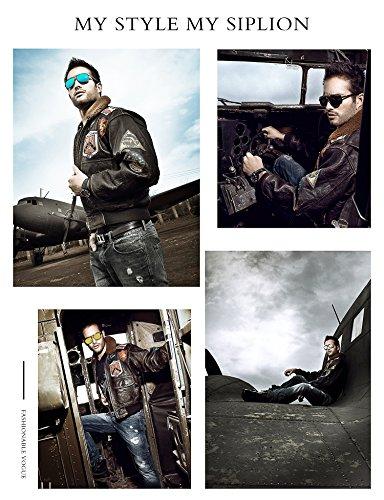 bb5d286eb785a SIPLION Men s Driving Polarized Rectangular Square Sunglasses Metal ...