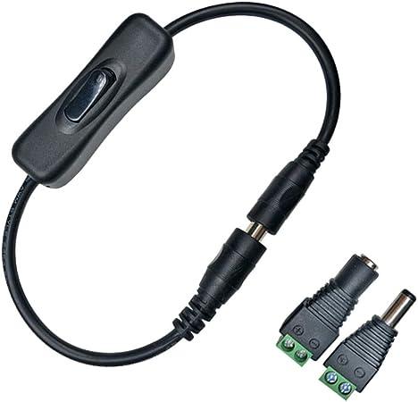 Liwinting Dc 12v Ein Aus Kabel Mit Schalter Dc Jack Elektronik