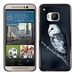 Shell-Star Arte & diseño plástico duro Fundas Cover Cubre Hard Case Cover para HTC One M9 ( The White Night Owl )
