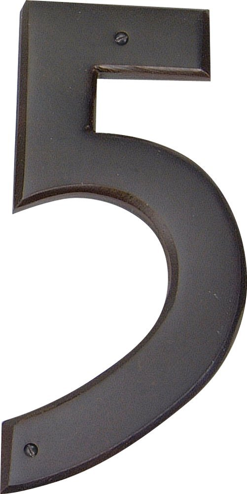 Atlas Homewares RCN5-O 5.5-Inch Mission House Number-5, Aged Bronze