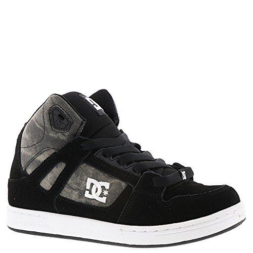 DC Boys' Youth Rebound SE Skate Shoe, Black Print, 13.5 M US Little Kid
