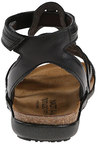 Naot Womens Sara Leather Sandals Black Raven