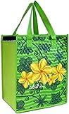 Island Impressions Tote Bag Insulated Aloha Plumeria Medium Green One Size