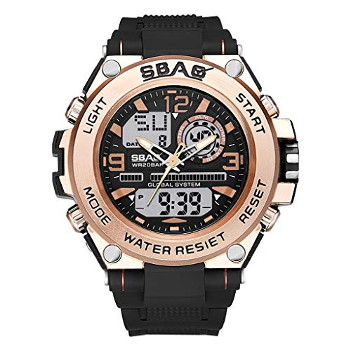 - YEZIJIN Multi Function Large Dial Round Double Display Special Forces Sports Men's Watch Under 10