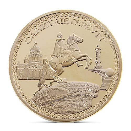Non-currency Coins - Peter The Great Commemorative Coin Gold Plated Souvenir Art Collection - Hdmi 2 Coin Coin Halloween Stick Cast Silver Gift 2019 Coin Love Mirascreen Coin Toy Miracast -