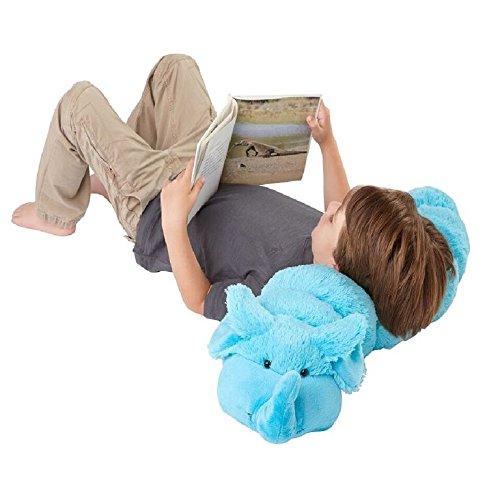 Pillow Pets BodyPillars Squiggly Elephant  - 30'' Super Soft Stuffed Animal Plush Body Pillow