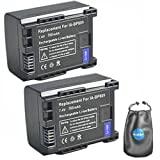 ValuePack (2 Count): Digital Replacement Camera and Camcorder Battery for Canon BP-809, BP-807, BP-808 - Includes Lens Pouch