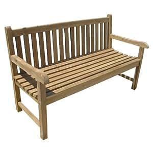 Home-Feeling - Banco para jardín (3 plazas, 150 cm, madera de teca)