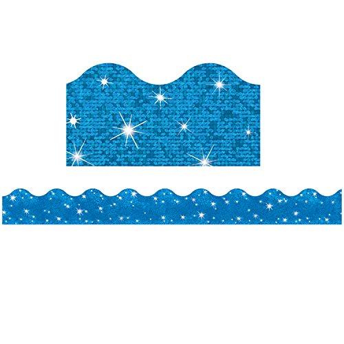 TREND enterprises, Inc. T-91413BN Blue Sparkle Terrific Trimmers, 32.5' Per Pack, 6 Packs ()