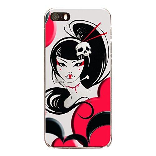 """Disagu Design Case Coque pour Apple iPhone SE Housse etui coque pochette """"Death Geisha"""""""