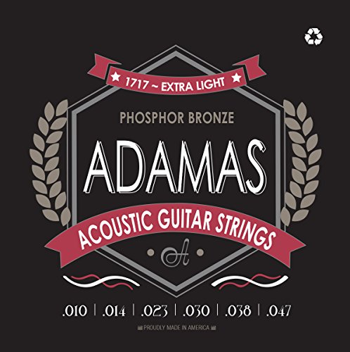 Adamas OV1717E Extra Light (.010-.047 ga) Phosphor Bronze Acoustic Guitar Strings