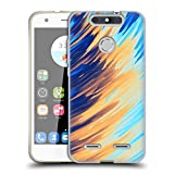 Official Andi Greyscale Two Sides of One Extreme Abstract Marbling Soft Gel Case Compatible for ZTE Blade V8 Lite