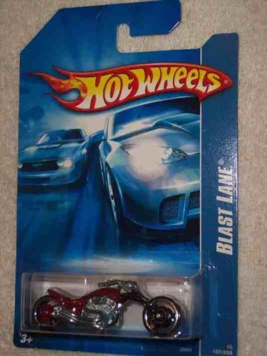 Hot Wheels 2006 Blast Lane (Motorcycle) 137/223, Red