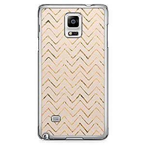 Samsung Note 4 Transparent Edge Phone Case Gold Chevron Texture Phone Case Chevron 2D Note 4 Cover with Transparent Frame