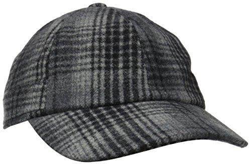 Hat Attack Women's Baseball Cap, Grey Plaid, One Size