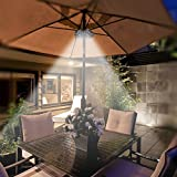 Patio Umbrella Light LATME Cordless 28 LED Night Lights 3 Lighting Mode at 220 Lux Battery Operated Umbrella Pole Light for Patio Umbrellas, Outdoor Use, or Camping Tents (Black)
