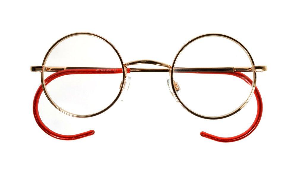 49b5ece277f6 i sunglasses.com Round John Lennon Glasses Curly Cable Temples Gold Clear  M  Amazon.co.uk  Health   Personal Care