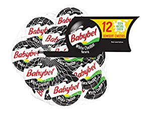 Mini BabyBel Cheese White Cheddar, 4.2 Ounce (Pack of 12 ...