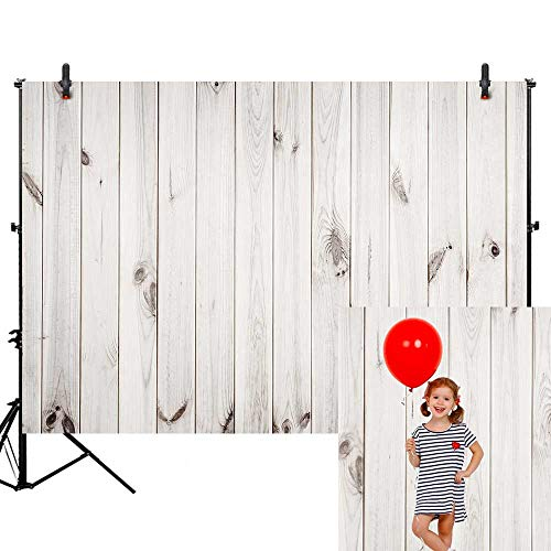 - Allenjoy 7X5ft White Wood Pattern Photography Backdrop Wood Floor Wall Background Portrait Wooden Photo Studio Props for Photographer