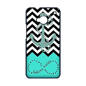 HTC ONE M7 Case, Infinity Anchor Aztec Tribal Pattern High Definition Personalized Design Cover With Hign Quality Hard Plastic Protection Case
