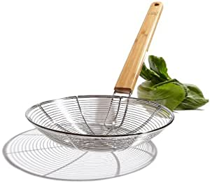 Tom Douglas by Pinzon Stainless-Steel Skimmer with Bamboo Handle