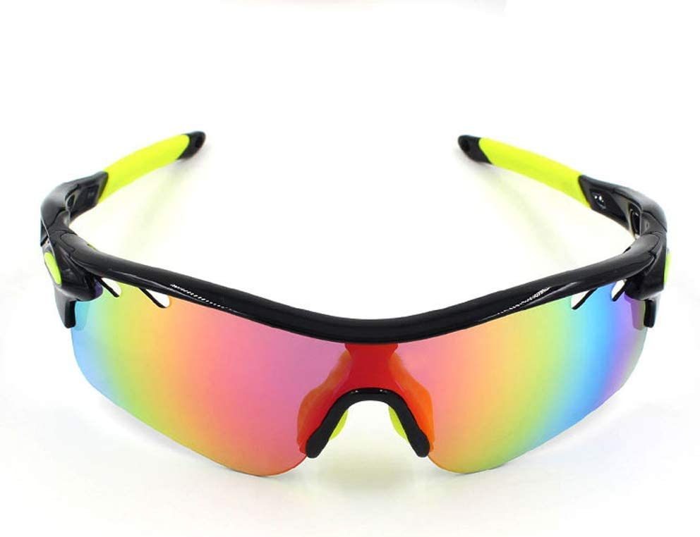 Gafas de sol polarizadas Gafas de sol polarizadas gafas de sol deportivas gafas de motocicleta gafas Lenes Hombres Mujeres Ciclismo Running conducción (Color: 2, Tamaño: Un tamaño) Artículos deportivo
