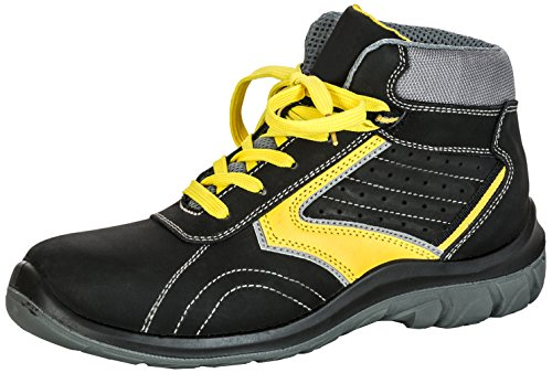 Seba 578CE Schuh High S3SRC, schwarz/gelb, Größe 41