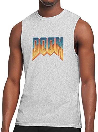 タンクトップ メンズ Doom 1993 運命1993 ノースリーブ Tシャツ 吸汗通気 フィットネス カジュアル インナーベスト スポーツ