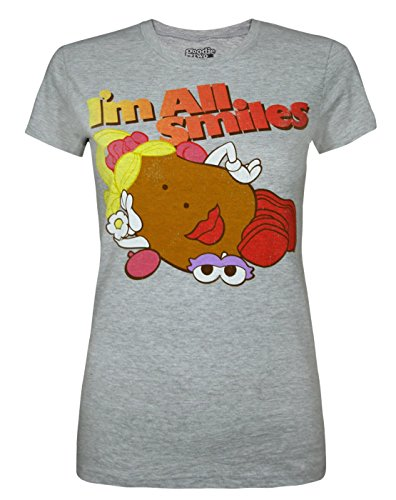 Goodie Two Sleeves Mrs Potato Head I'm All Smiles Women's T-Shirt (S) (Mrs Potato Shirt)