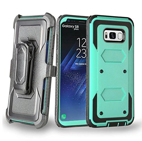 Price comparison product image S8 Plus Case,Samsung S8 Plus Case,DAMONDY Swivel Belt Clip Rugged Tough Heavy Duty Shockproof Armor Dual Hybrid KickStand Holster Case For Samsung Galaxy S8 Plus -mint